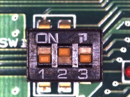 DIPスイッチの方向検査